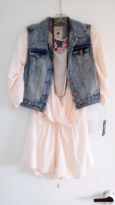 Robe short rose pale m/L