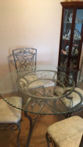 """48"""" glass dining table"""