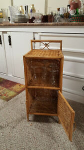 rattan end table/night stand