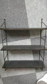 Black 3 tier wall shelf