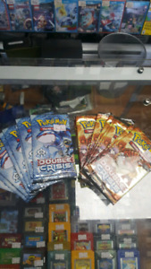 Pokemon Cards: Double Crisis 7 card packs