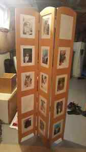 Standing photo frame screen