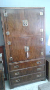 3 Piece Drexel cabinet and night table for one very low price!