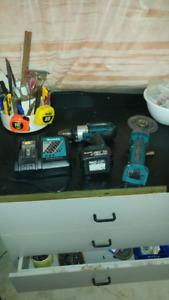 Makita 18v cordless drill/grinder