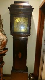 Antique mahogany grandfather clock