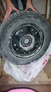 Set of four Firestone Winter tires and rims