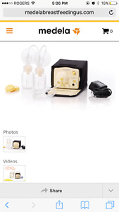 Pump in style double breast pump medela