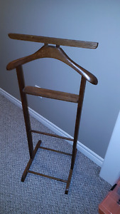 Vintage Mid Century Butler Valet Suit Clothes Rack Stand