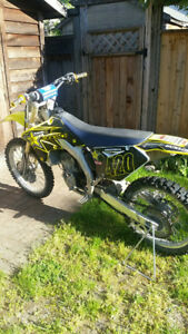2008 suzuki r,z 250 dirt bike