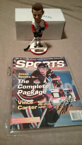 Hockey Senators Icedogs Spezza Bobblehead + Signed Magazine