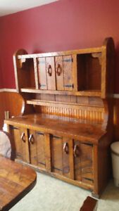 Antique Rustic 1800's style Table, Chairs and Hutch