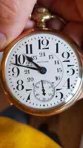 Vintage Waltham Vanguard Railroad Pocket Watch