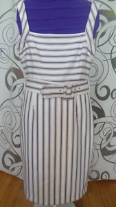 Belle robe blanc railler d été / taille L / ZARA