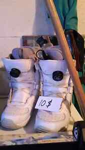 Ladies size 7 button snowboard boots