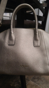 Silver Guess purse, excellent condition, $50