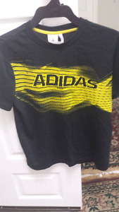 boy Adidas 2 shirt one black and one red