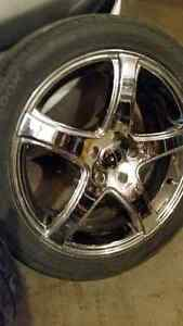 "Set of 4 beautiful Chromed alloy 18"" wheels for Honda...."