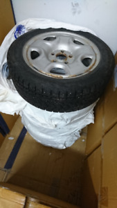 4 WINTER TIRES W/ RIM ON! 205/55R16  91S