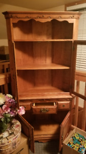 China (Corner) Cabinet with Glass Doors, drawer and Cupboard