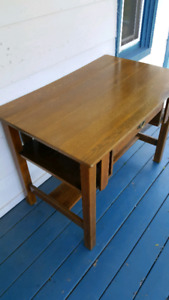 Solid wood desk - good condition