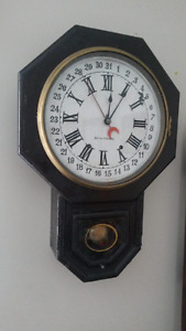 SETH THOMAS Antique Time-Date Wall Clock