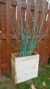 Teal tree in box