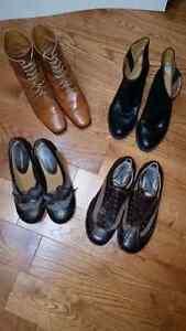Women's Leather shoes - Vintage Retro