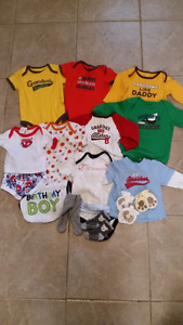 Onsies and other items range 3-9 months