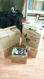 boxes of books for sale