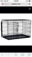 Small dog crate with divider & 2 doors