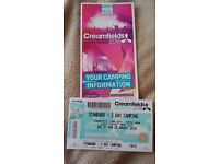 Creamfields Ticket 2 day standard camping