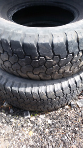 TWO 31/10.5/ MUD  SNOW TIRES