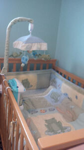 Cute, Gender Neutral, Frog Pond Baby Crib Bedding