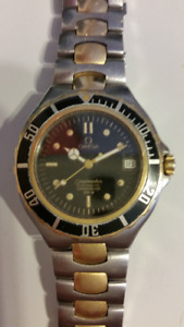 OMEGA SEAMASTER  TIMEPIECE 18K AND STAINLESS NICE $1295.00