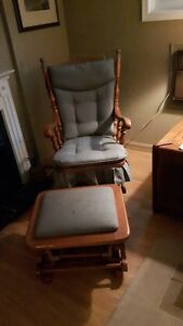 roxton rocking chair and ottoman