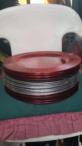 NEW RED AND SILVER PLATES