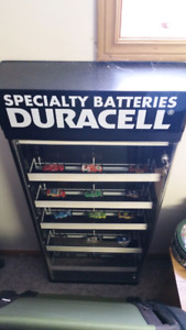 Duracell battery display cabinet