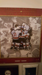 Team Canada Mounted poster