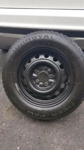 4 Winter Uniroyal Tires & Rims Used
