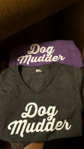 "Ladies ""Dog Mudder"" V Neck Tees"