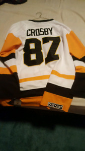Sydney Crosby 87 vintage style Pittsburg penquins Jersey