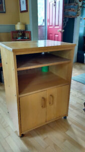 Maple Microwave stand/Cupboard