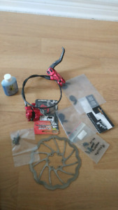 Magura front brake set with rotor extra pads a d bleeding parts