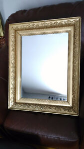 1930s Wall Mirror with Original Plaster Frame, Beautiful!