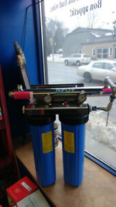 Dual whole house filter system / gauges & uv system