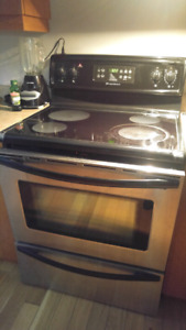 Full Size Stainless Stove Ceramic Top