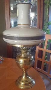 Double Burner Brass Oil Lamp