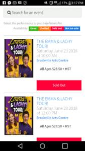 Emma & Lachy tickets