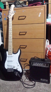 Eleca electric guitar and amp