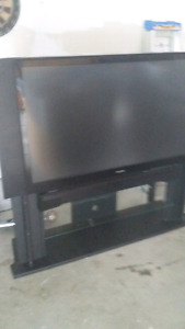 Flat tv with matching stand 200 obo
